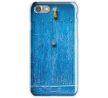 Vintage Blue Door in Southern France iPhone Case/Skin