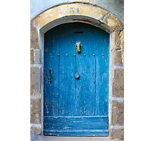 Vintage Blue Door in Southern France Photographic Print
