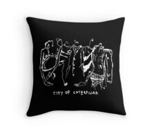 City of Caterpillar shirt – demo and live recordings, a split personality Throw Pillow