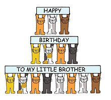Birthday little brother, with cats. by KateTaylor