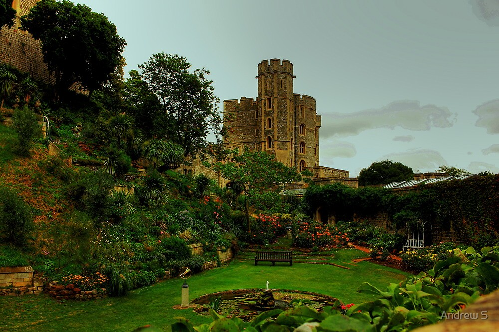 The Moat Garden, Windsor Castle by Andrew S