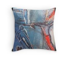 performers on a high wire Throw Pillow