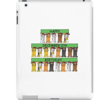 Cats celebrating birthdays on December 12th. iPad Case/Skin