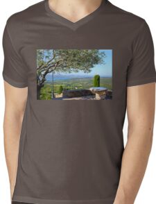 View from Gassin over the Bay of Saint Tropez, France Mens V-Neck T-Shirt