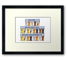 Cats celebrating Birthdays on November 12th Framed Print