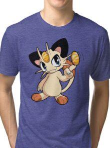 Pokemon - Meowth Tri-blend T-Shirt