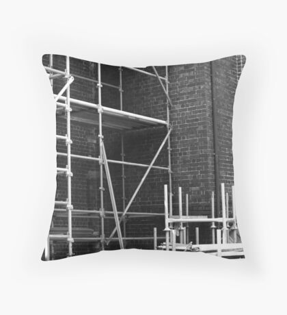 Scaffolding ... Throw Pillow