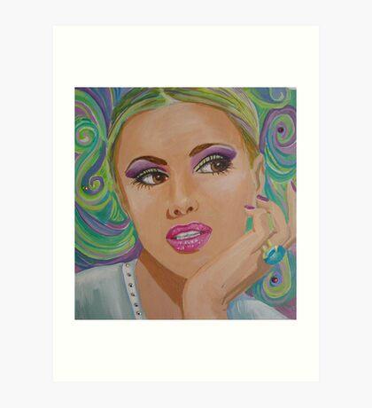 Pensive Portrait Art Print
