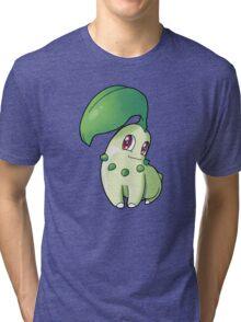 Pokemon - Chikorita Tri-blend T-Shirt