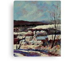 Snow in Vitrival Canvas Print