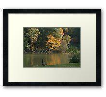 Autumn at Glacier Lake Framed Print
