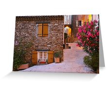 Gassin - classified as a most beautiful village on the French Riviera Greeting Card