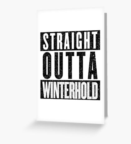 Adventurer with Attitude: Winterhold Greeting Card