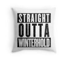 Adventurer with Attitude: Winterhold Throw Pillow