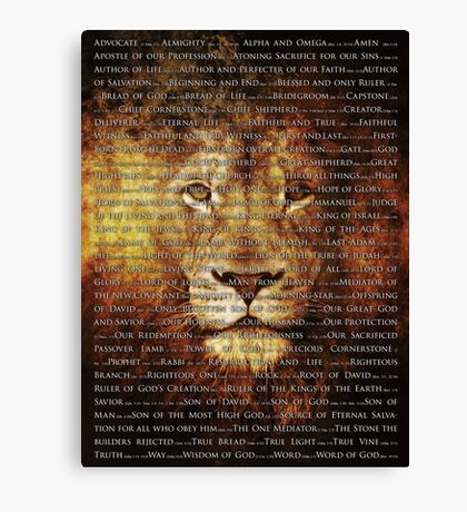 The Names of God Canvas Print