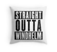 Adventurer with Attitude: Windhelm Throw Pillow