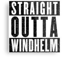 Adventurer with Attitude: Windhelm Metal Print