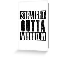 Adventurer with Attitude: Windhelm Greeting Card