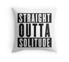 Adventurer with Attitude: Solitude Throw Pillow