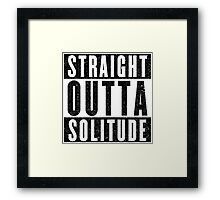 Adventurer with Attitude: Solitude Framed Print