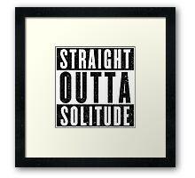 Adventurer with Attitude: Solitude Framed Print