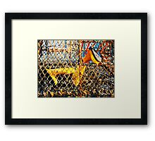 Lobster Cage. Framed Print