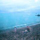 Rainy Day on Brighton Beach by JLaverty