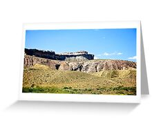 Landscape along US 550 in New Mexico Greeting Card
