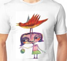 Bouncing a Ball With a Bird On My Head Unisex T-Shirt