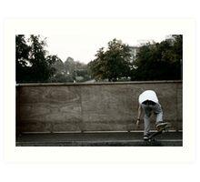 Skateboarding Contrast Art Print