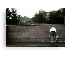 Skateboarding Contrast Canvas Print