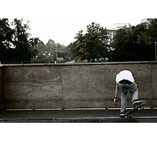 Skateboarding Contrast Photographic Print