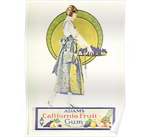 Advertisements Photoplay Magazine July through December 1920 0103 Adams California Fruit Gum Poster