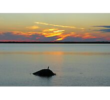 Sunset on the Saint-Lawrence River   Québec Photographic Print