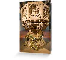 The font at St.James's, Weybridge Greeting Card