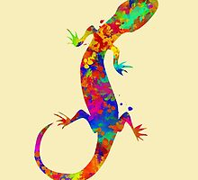 Colorful Gecko Art by Christina Rollo