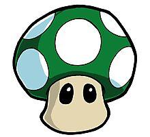 Super Mario Bros. - 1UP Mushroom Photographic Print