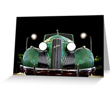 1939 GM LaSalle Convertible Greeting Card
