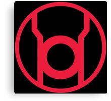 Red Lantern Corps Symbol Canvas Print
