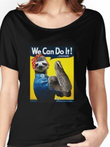 We Can Do It (...Eventually) Sloth Women's Relaxed Fit T-Shirt