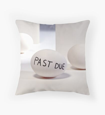 Past Due Throw Pillow