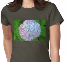 Multi-Colored Hydrangea Womens Fitted T-Shirt