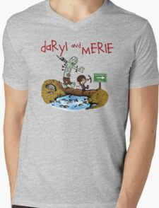 Daryl and Merle Mens V-Neck T-Shirt