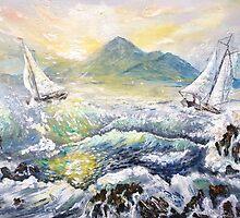 Croagh Patrick from Old Head. by Joe Trodden