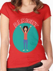 Alright! Linda Women's Fitted Scoop T-Shirt