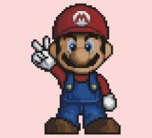 Mario Pixelart One Piece - Short Sleeve