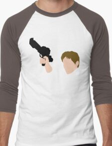 He Shot First Men's Baseball ¾ T-Shirt