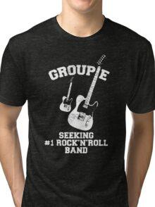 Groupie Seeking Rock'n'Roll Band Tri-blend T-Shirt