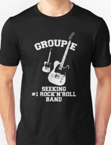 Groupie Seeking Rock'n'Roll Band T-Shirt