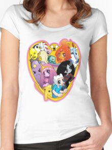 Adventure Time - Group Hug Women's Fitted Scoop T-Shirt